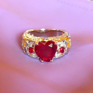 Red cz ring sz 8 nwot